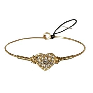 🆕❤Crave Goldtone Crystal Heart Bangle